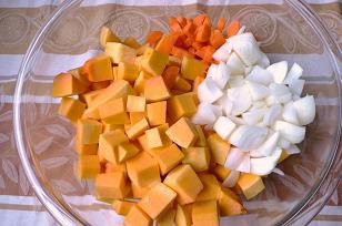 かぼちゃスープ材料
