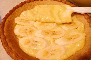 バナナクリーム重ねる