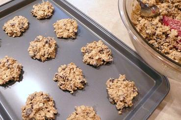 クッキー並べる
