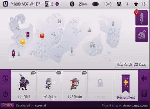 The King's League ゲーム画面
