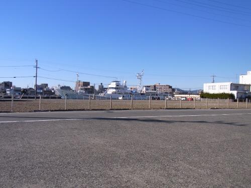 雲ひとつ無い晴天 静岡焼津港