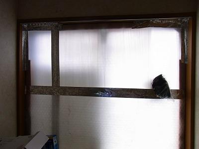 冬用の窓断熱プラダン