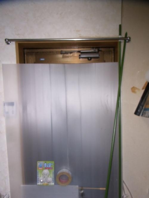 アルミ勝手口ドアの省エネ・簡単断熱方法・プラダン寸法について2