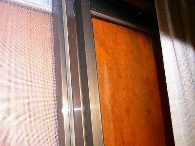 防寒用ビニールシートの内側
