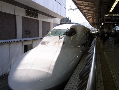 大阪主張 新幹線のぞみ