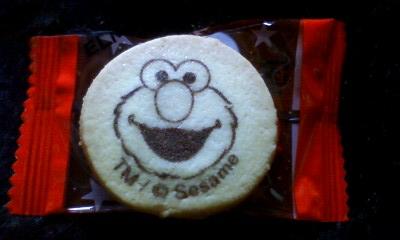 クッキーにもエルモ!