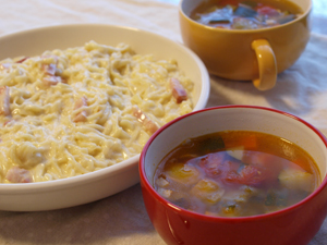 生パスタ&スープ