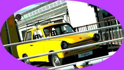 816黄色い東ドイツ車ポスター風