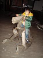 大沢温泉前 木馬