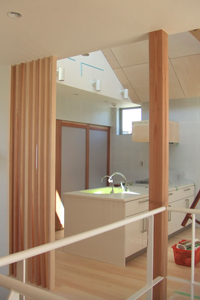 「おゆみ野の家」工事中2階キッチン