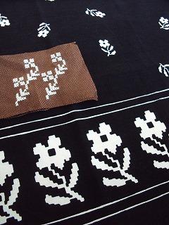 刺繍と布。