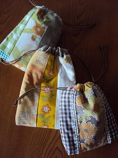 黄色系巾着 表