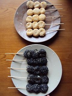 白玉で串団子