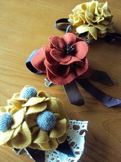 woolfelt flowercosage