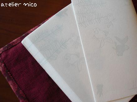 金魚柄の懐紙