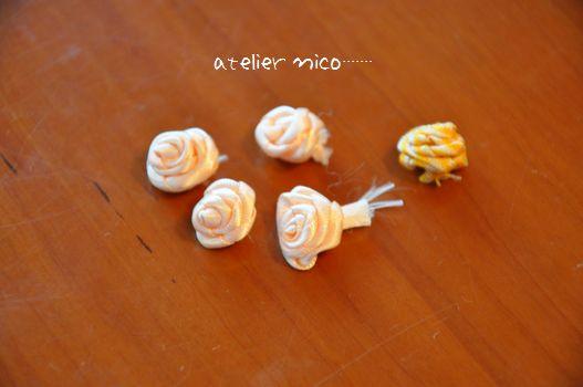 巻き薔薇作ってます