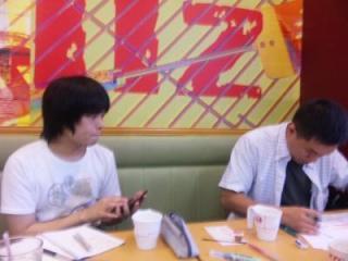 川前さんと打ちあわせ。20090908