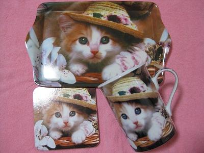 2-3周年ポーチャ還元3猫と帽子3点セット4336