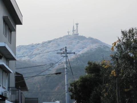 阿波の不二山、雪の眉山