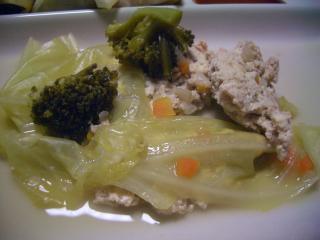 豆腐とキャベツ煮