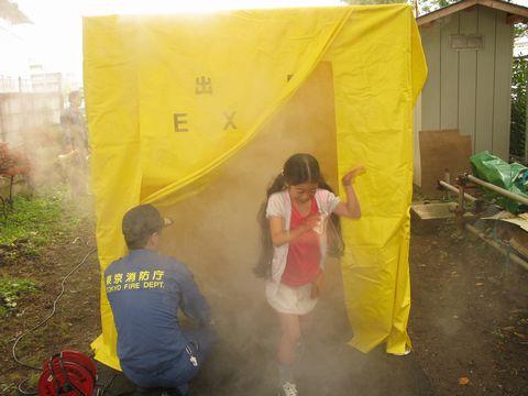 2010年6月27日防災訓練煙避難