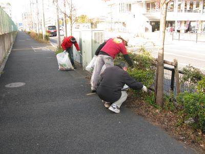小豆沢北町会青年部清掃活動20100123