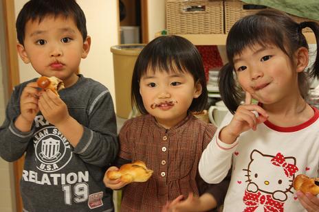 親子パン教室写真1