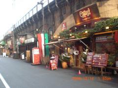 鉄道高架下の飲食店街