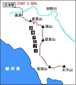 沼津アルプス地図