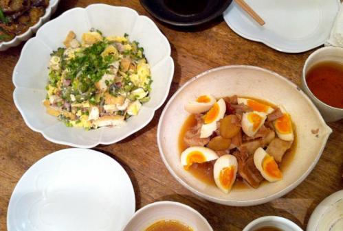 ブタの角煮とゴーヤチャンプル
