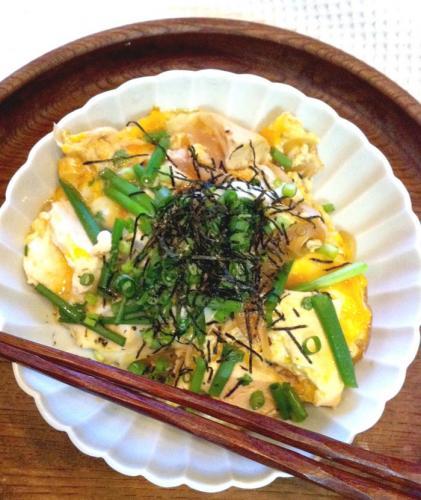 親子丼+豆腐
