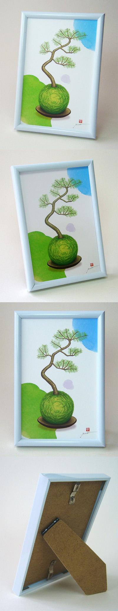 盆栽の絵 インテリア ギフト