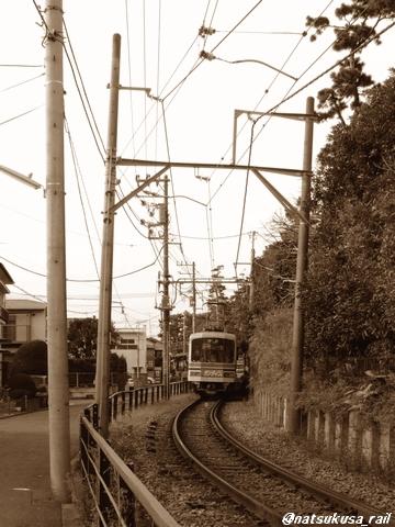 江ノ電と、小道と