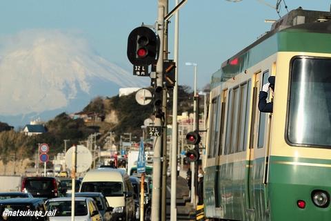 富士山に敬礼