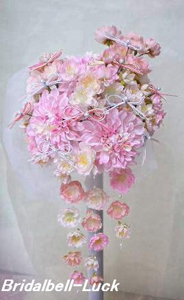 ダリア・桜の和装ブーケ