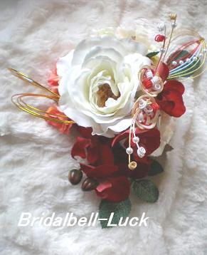 バラの和装髪飾り