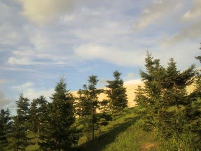 もっと日差しと青空と雲と緑がきれいに見えたんだけど・・・