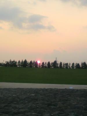 キレイな夕陽でした