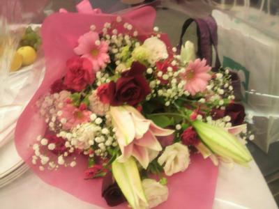花束贈呈のお花