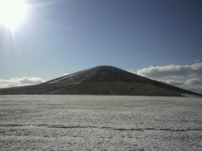 モエレの山に雪!