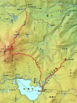 hiuchigatake map