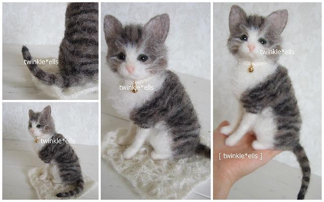 猫ちゃん羊毛