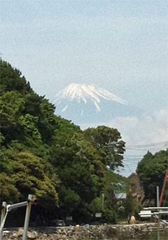 大瀬崎の富士山