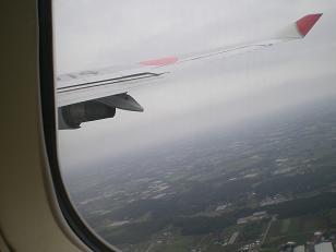 快晴 これから 日航のジャンボ機で 出発です!