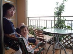 朝のパパとTsubaki