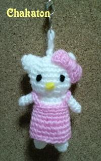 編みキティ 前