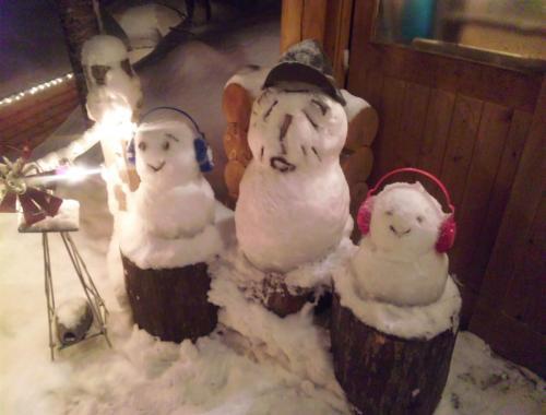 ニングル雪だるま?