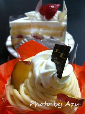 ショートケーキ・さつまいもとりんごのモンブラン