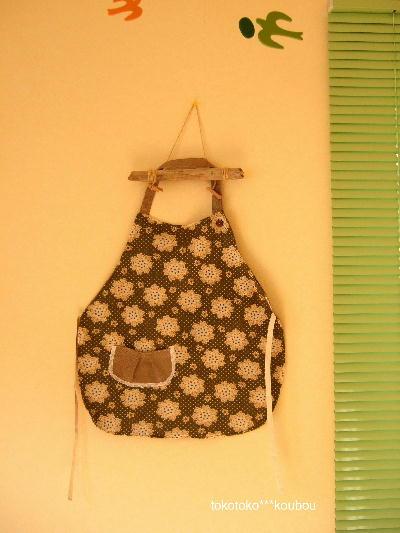 エプロン2009秋ウグイス花柄