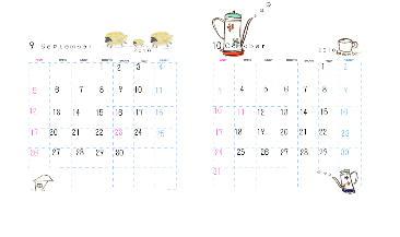 カレンダー9.10月
